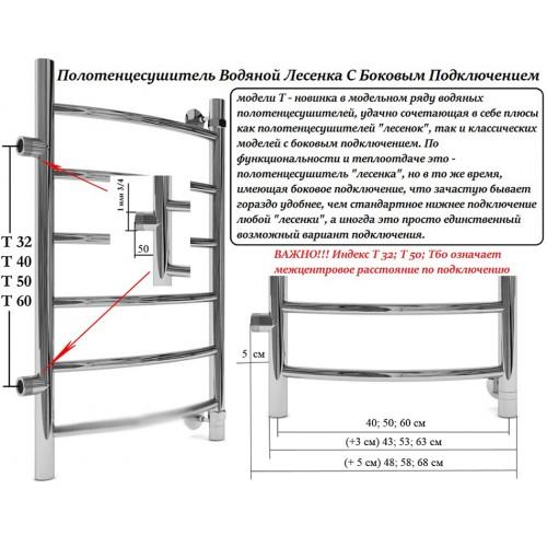 Полотенцесушитель лесенка с боковым подключением схема